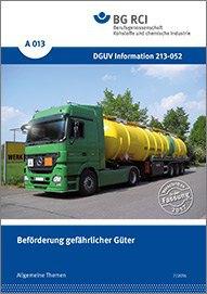 BG RCI: Merkblatt zur Beförderung gefährlicher Güter