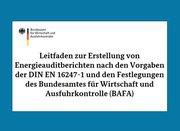 BAFA veröffentlicht Arbeitshilfen zum Energieaudit