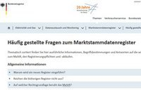 FAQs zum Marktstammdatenregister